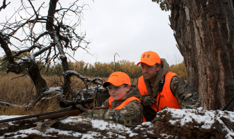 father son hunting